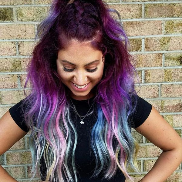 Iridescent Boho hair