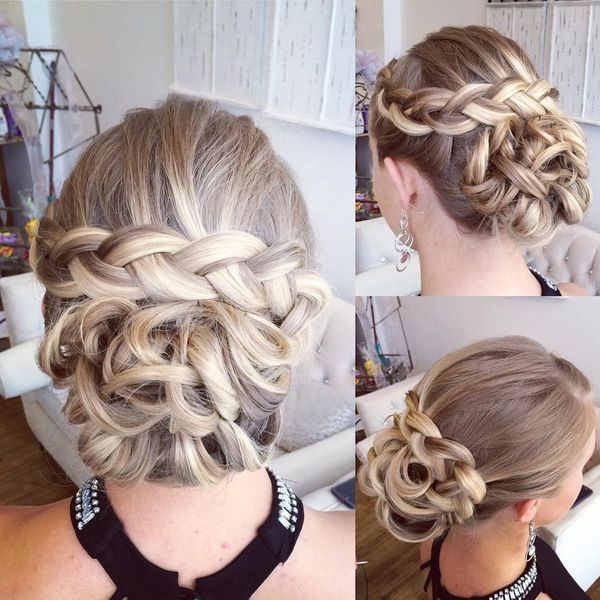 hair up styles for party 60 fresh prom updos for hair in 2018 3280 | Low braided hairpiece
