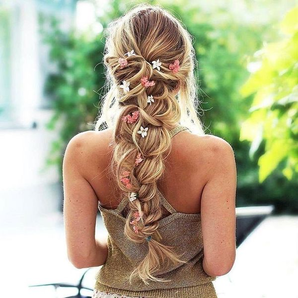 Lush braid with flowers