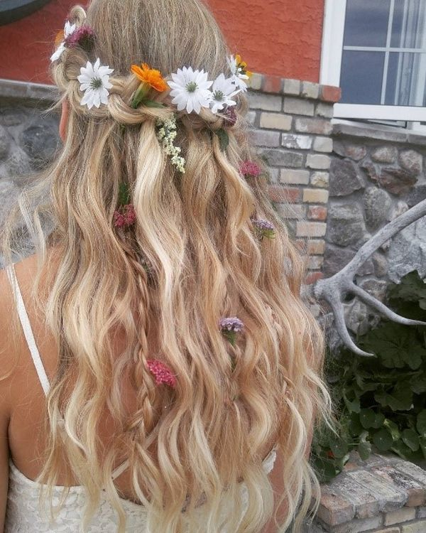 Meadow on wavy hair
