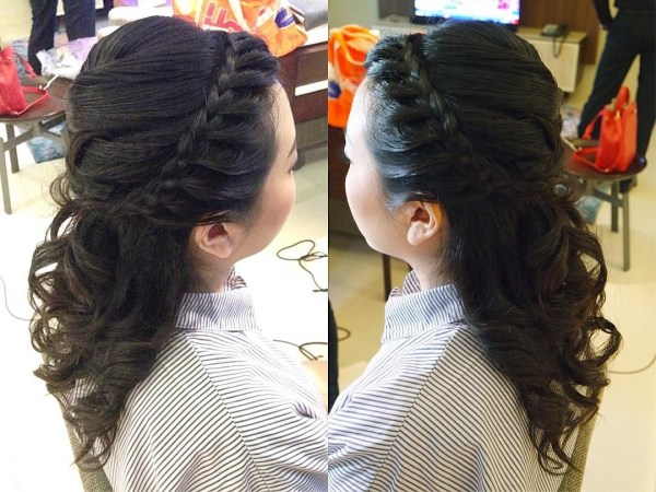 The braided band with wavy locks