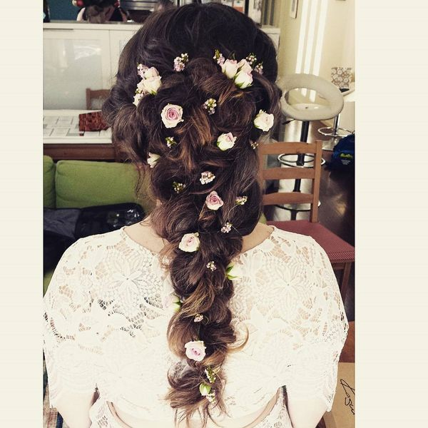 Thick floral braid