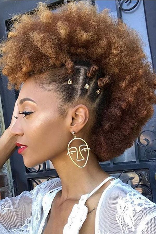 Cute Curly Mohawk Styles For Black Females 3