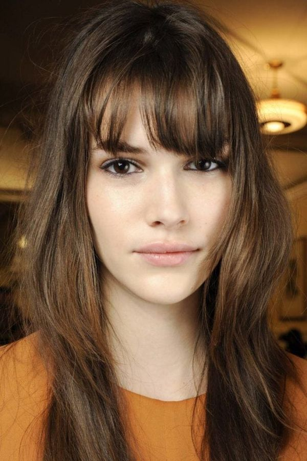 Cute Easy Hairstyles With Bangs For Long Thin Hair 3