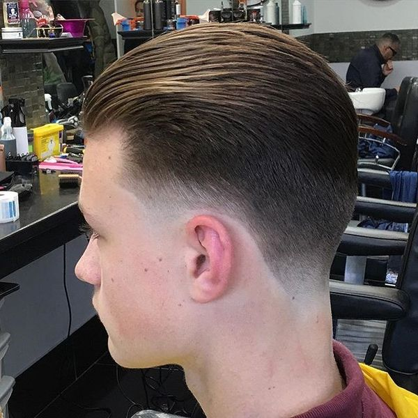 Captivating Classic Slicked Back Hairstyle