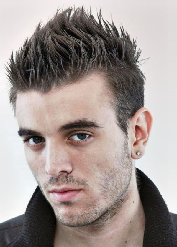Spiky cut with the stubble