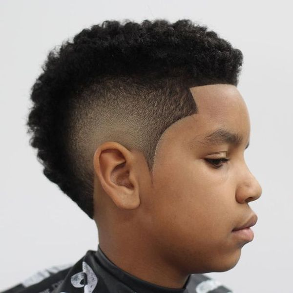 Curved and funky undercut