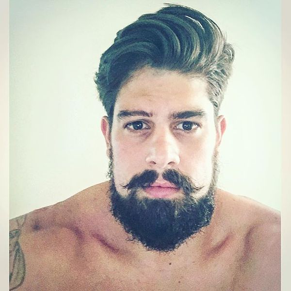 29 Hipster Messy Hair with Handlebar Mustache