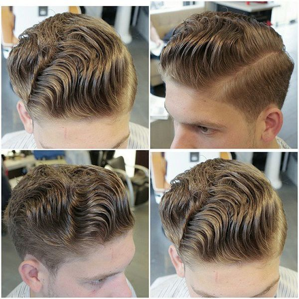 34 The Multileveled Side Part for the Romantic Guys