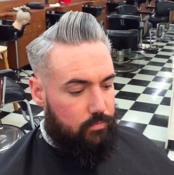 42 The Marvelous Trim with Skew Bang on the Grey Hair