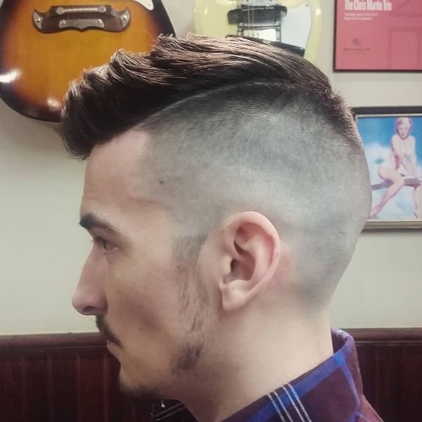 45 Faux hawk in high and tight