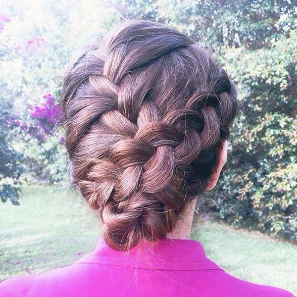 French braids updo