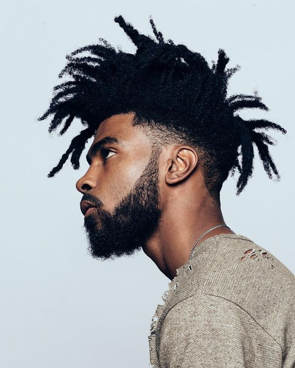 58 Dreaded Afro Mess with Full Beard