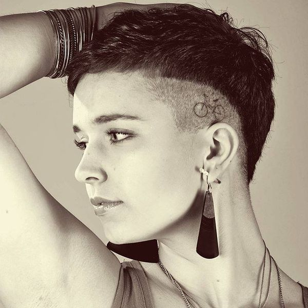 Artistically Shaved Temples for the Short Undercut0
