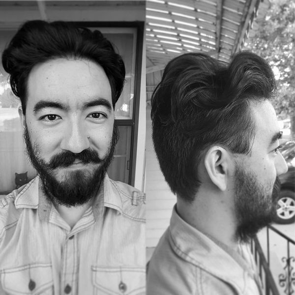 Asian men with wavy hair 1
