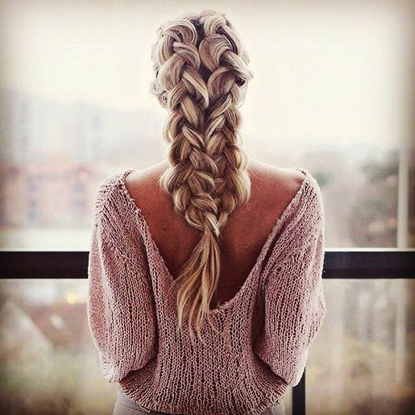 Beautiful Streaked Braids Spring Look