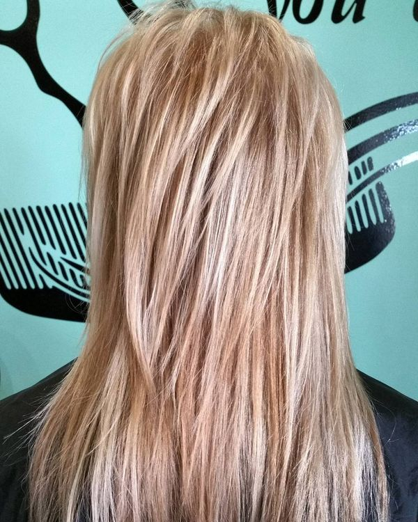 Blonde Volume Shag Haircut