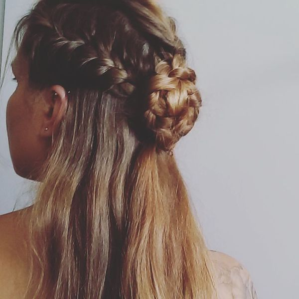 Braided Creative Half-Bun