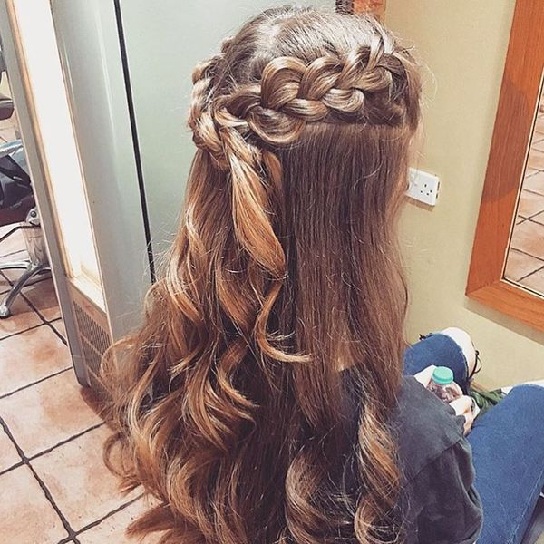Elegant French Braids Coming into Loose Waves