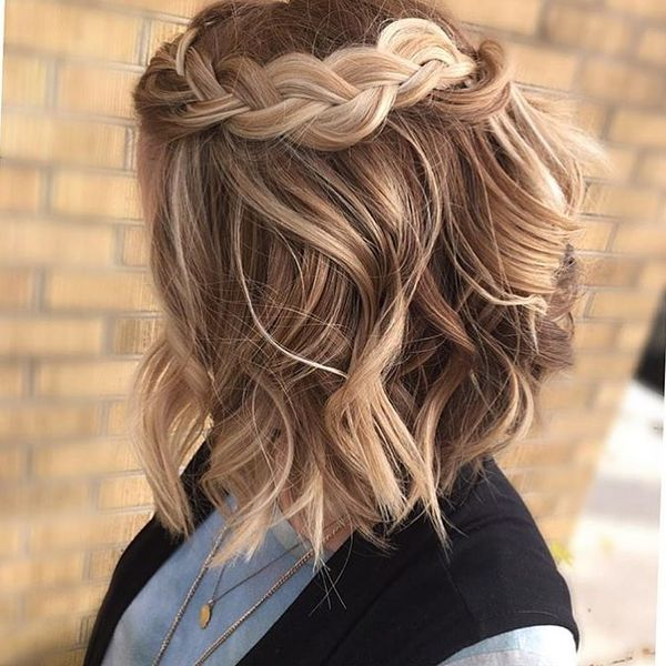 French Braid Twists to Update Your Wavy Hair1