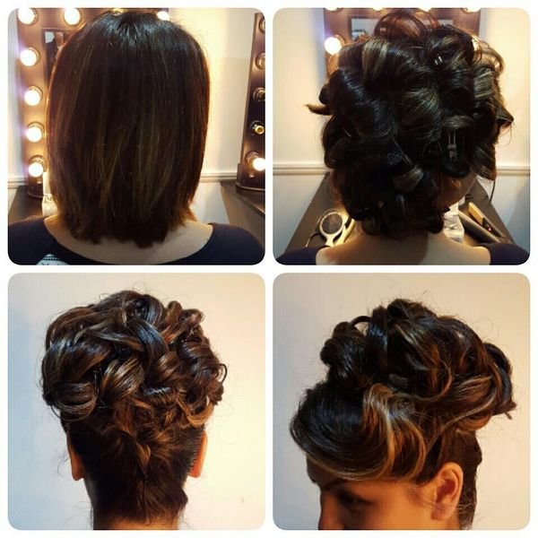 Gorgeous Top Bun Curly Arrangement0