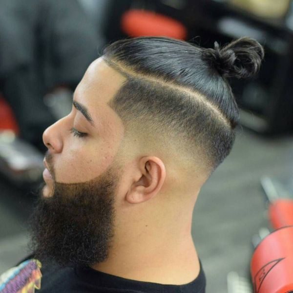 Hipster man bun and beard 4