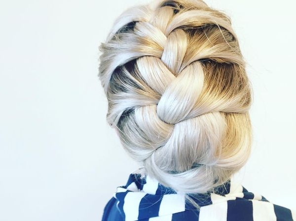 Nice Updo for Long Blonde Thick Hair