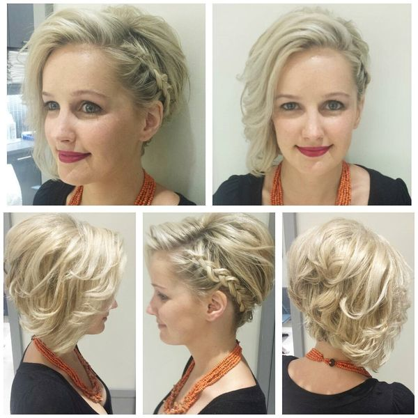 Simple Updos for Very Short Hair 1