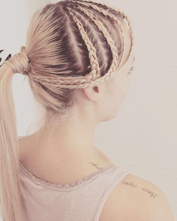Wonderful Braided Ponytail Style