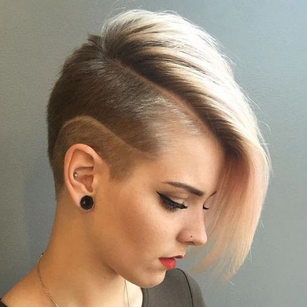 Creative Short Bobbed Hair Style with Undercut 3