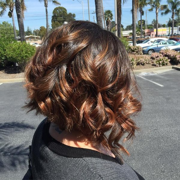 Curly and Wavy ALine Bob Hairstyles 1