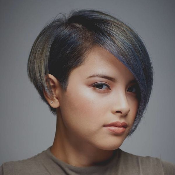 Short Asymmetrical Bobs for Straight Hair 1