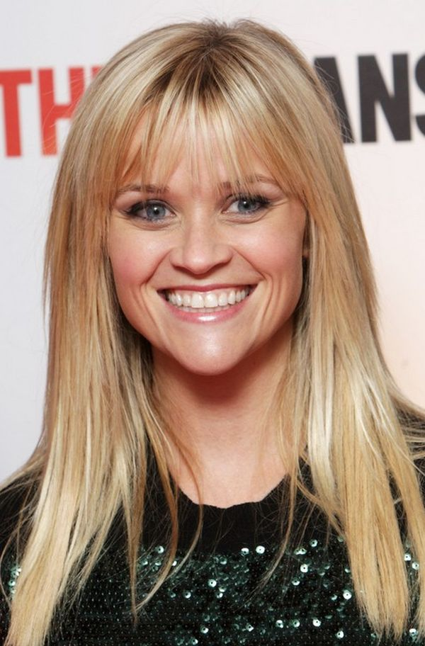 Styles of long blonde hair with layers and bangs 1