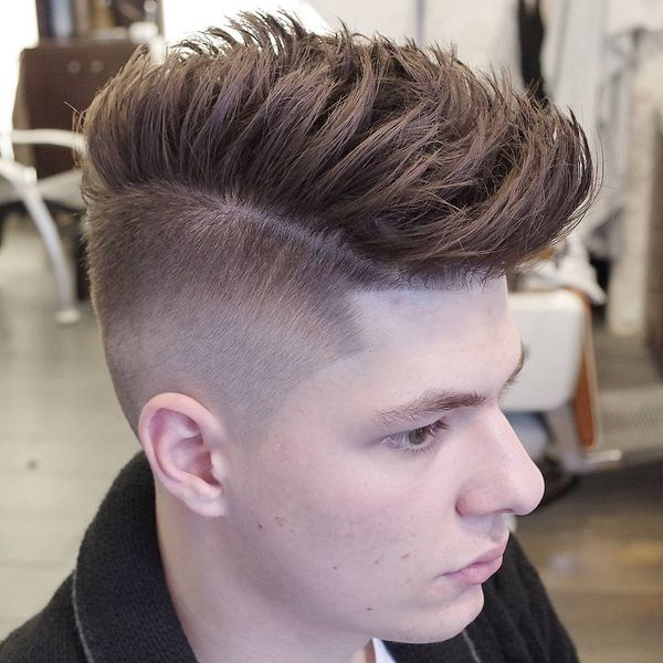 Messy side part haircuts 1