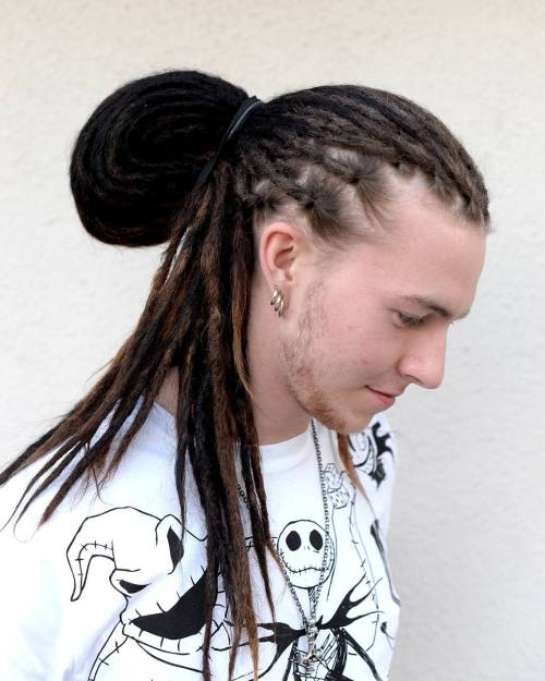 Dreadlocks Ponytail Hairstyle For Guys 1