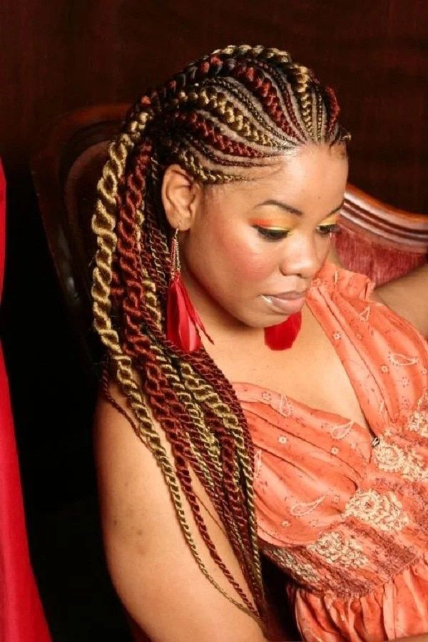 Easy 70s Hairdos with Braids for African American Women 3