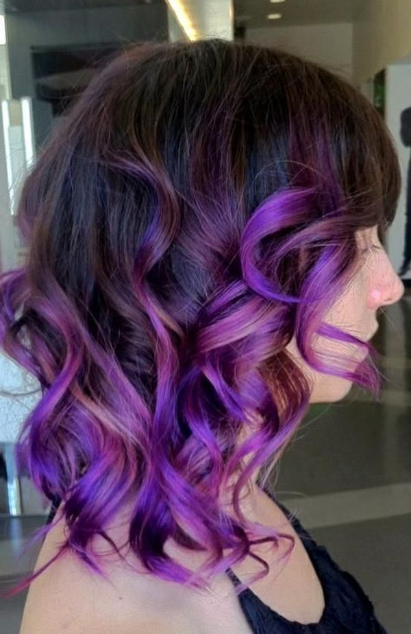 Purple Underneath Colored Hair Youll Love 1
