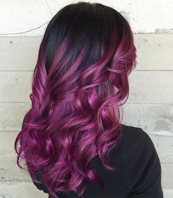Purple Underneath Colored Hair Youll Love 2