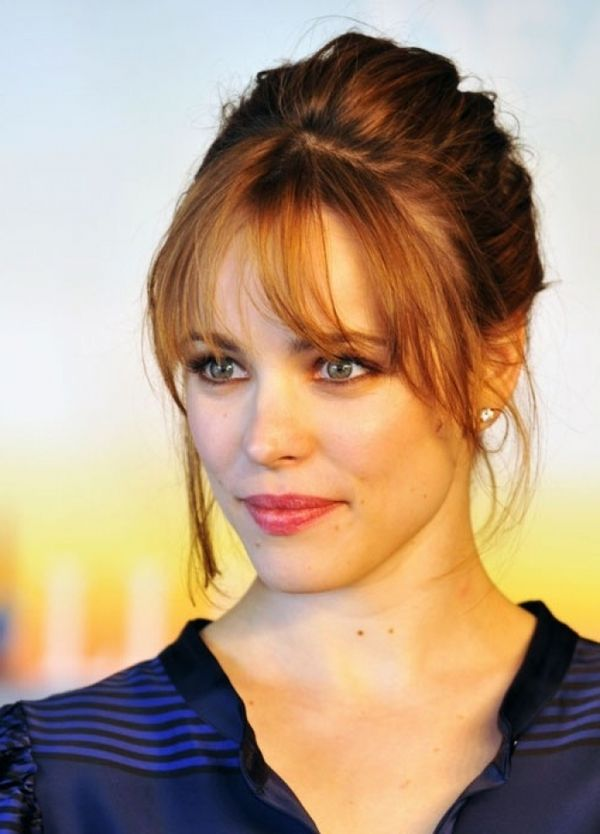 Thin Bangs for Women With Big Forehead And Round Face Shape 1