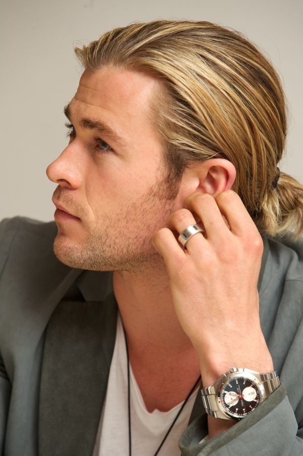 Blonde Man Bun and Ponytail 2