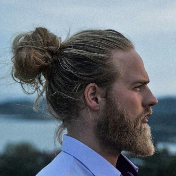 Blonde Man Bun and Ponytail 3