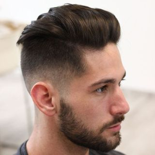 Classic Undercut Fade for Medium Length Hair 1