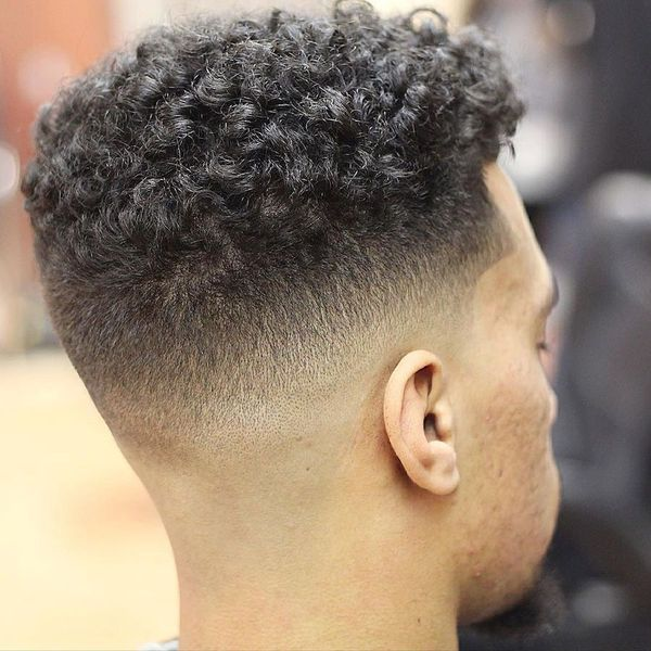 Mens Mid Fade Haircut For Curly Hair 2