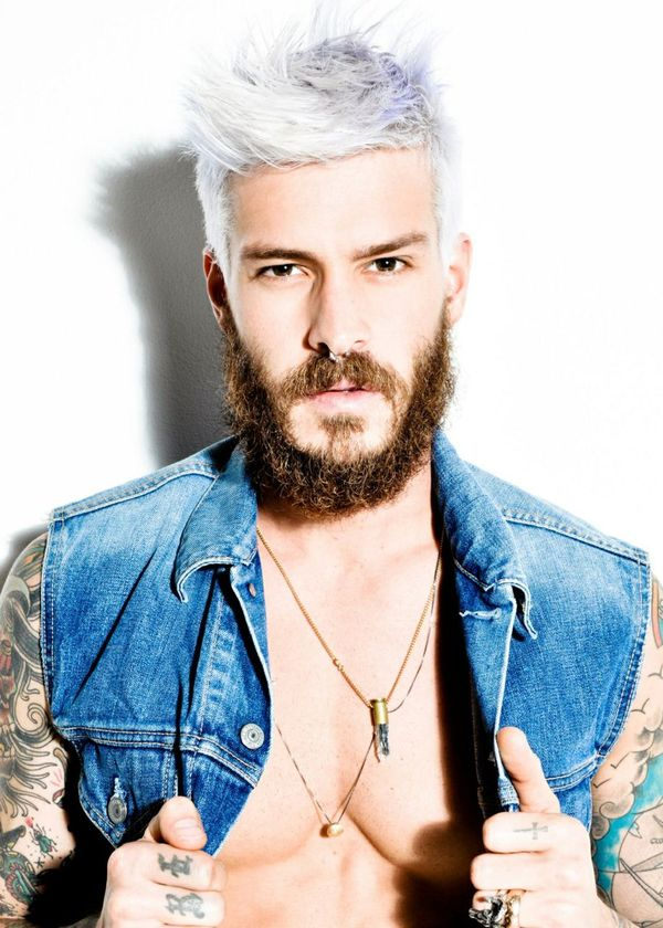Stylish Hairstyles for Platinum Blonde Hair Men 2