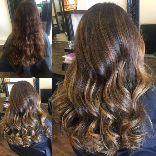 Dark Brown Hair With Blonde Highlights 3