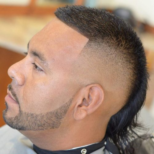 Male Mullet Fade Sides 2