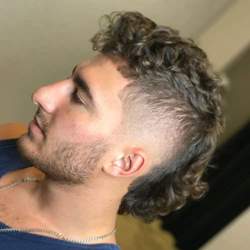 Curly Mullet Hairstyles 3
