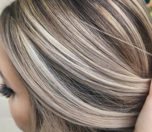 Ash Blonde Highlights On Brown Hair 1