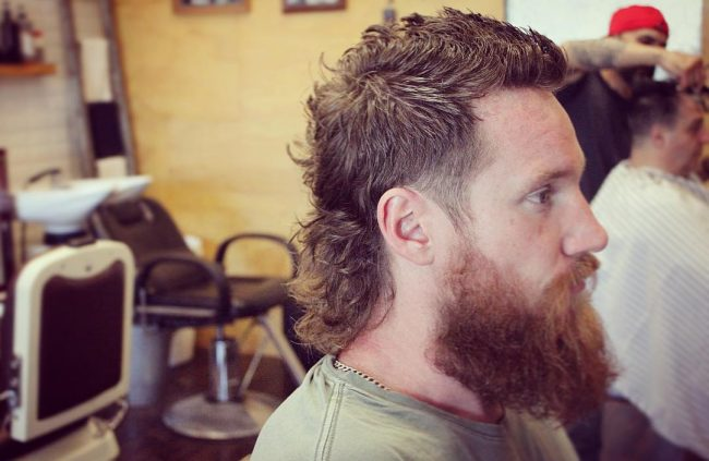 Long Feathered Mullet Hair 1