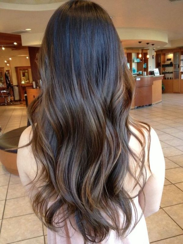Awesome Dark Brown Balayage Hairstyles 2